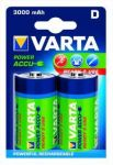Akumulatorki VARTA Power Accu 3000mAh HR20/D 2szt